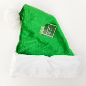 Holiday Time Bright Elf Green Santa Hat Adult Size